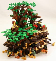 Apple (Bart De Dobbelaer) Tags: castle apple lego witch fantasy stump vignette minion witchsquest