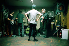 (Kaleb Marshall) Tags: show light film halloween alex 35mm nc punk snapshot basement naturallight marshall single dope tribe yashica coated kaleb t4 mahler