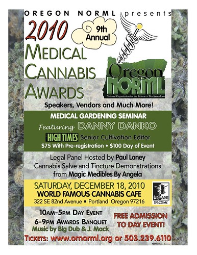 ninth annual oregon medical cannabis awards sponsored by oregon norml