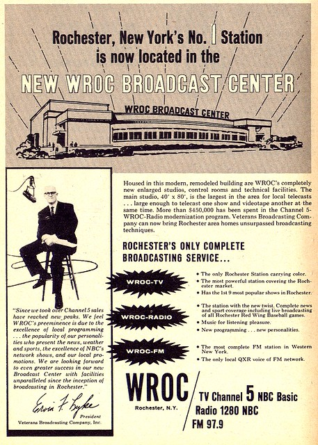 WROC 1962 TV Guide Ad