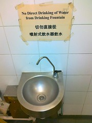 Toilet - No Direct Drinking of Water from Drinking Fountain