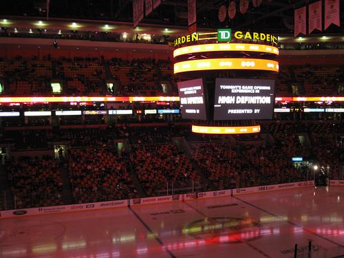 Inside the TD Garden.