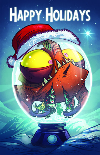 Insomniac Games 2007 Holiday card