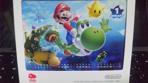 Club Nintendo Calendar 2011 3