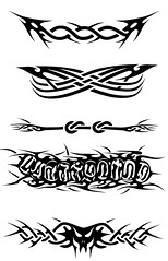 CINTA (Black Crown . tribal) Tags: white black art dark design tribal tatoo