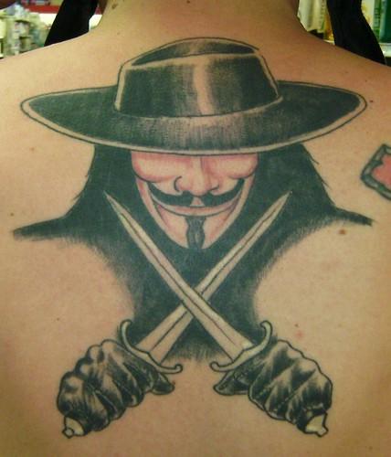 V for Vendetta Tattoo  V For Vendetta Tattoo Ideas Are Bulletproof