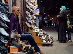 People and mannequins (Evgeni Zotov) Tags: street city people woman man mannequin shop shoes asia child market amman middleeast jordan arab footwear sit vendor sell trade seller choose jordania trader ירדן ヨルダン الأردن jordanië ürdün 约旦 約旦 요르단 जॉर्डन иордания