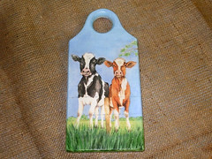 "Cutting board ""Two cows"""