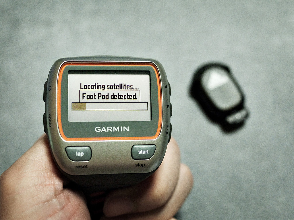 Garmin Forerunner 310XT paired with Adidas miCoach Stride Sensor