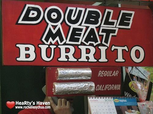 mexicali burrito size