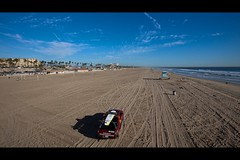 lifeguard (Eric 5D Mark III) Tags: california blue sky cloud seascape beach canon landscape perspective wideangle lifeguard vehicle orangecounty suv huntingtonbeach ef1635mmf28liiusm eos5dmarkii