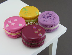 Irresistible Macaron Pendants (Shay Aaron) Tags: food french miniature necklace lemon italian strawberry colorful handmade aaron lavender fake mini jewelry charm polymerclay fimo macaroon tiny fancy faux raspberry shay lime whimsical geekery jewel petit decorated shayaaron wearablefood