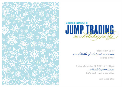 Jump Holiday Party Invitation