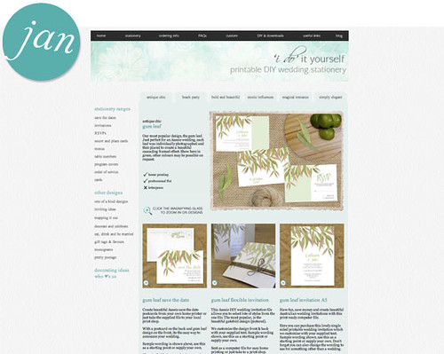 our printable wedding stationery collections and free wedding downloads