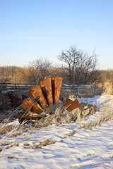 Fallen Windmill#3 (Scottski 39) Tags: snow farm l wisconsinwinter