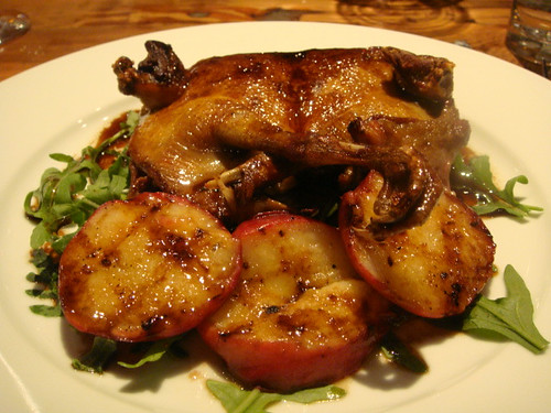 Grilled squab with peaches @ Oenotri - Napa, CA