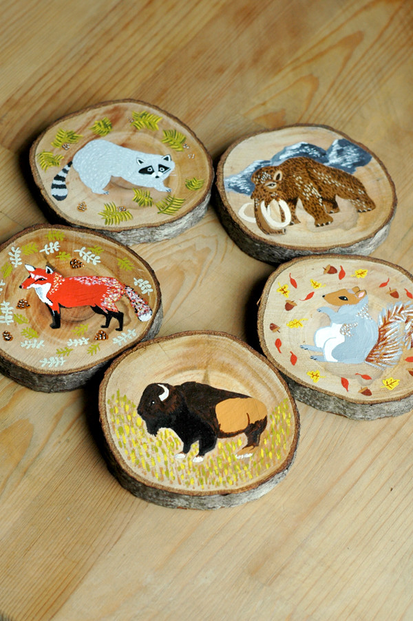 5 wood slices 72