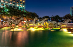 Mustangs at Las Colinas (todd landry photography) Tags: las sculpture architecture bronze nikon texas irving hdr mustangs colinas d90
