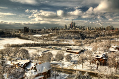 Snow In The Sun (Charles Bodi) Tags: winter snow toronto ice skyline photography dvp broadview cityline charlesbodi ridemypony riverdalpark tgamphotodeskwinter