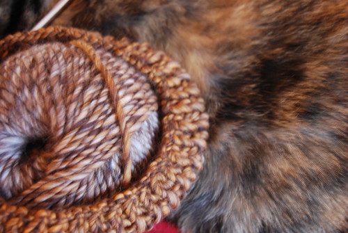 Kudzu-colored yarn