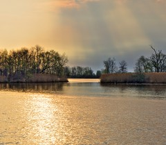 Magical Morning Light (Don Iannone) Tags: morninglight naturephotography goldenlight smalllake colorfulsky tonemappedhdr castaliaohio doniannonephotography hdrphotograph