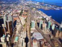 Toronto from CN Tower (bukharov) Tags: toronto cntower tiltshift miniatureeffect