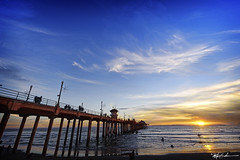 lastSunset - 2010 (whalenmdw) Tags: ocean california sunset color beach water pier fishing nikon huntington orangecounty huntingtonbeach d700