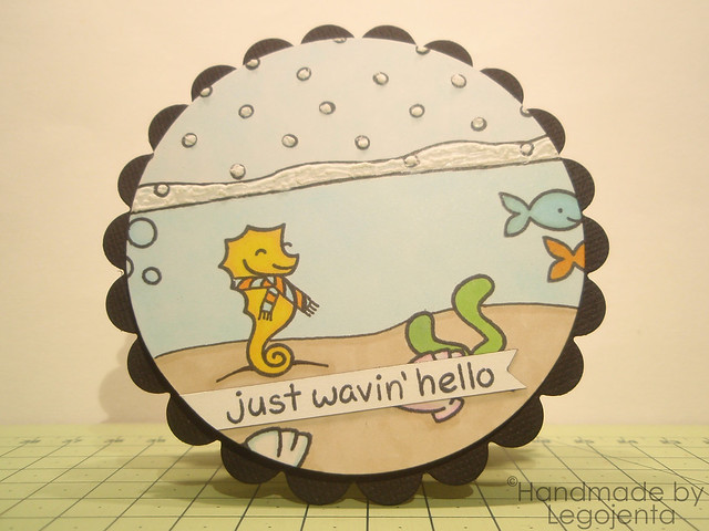 """Just Wavin' Hello"" Circle Card"
