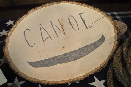 Canoe sign