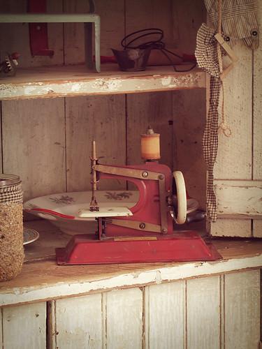 Antique child's sewing machine