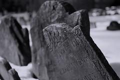 Widow (Jason Neely) Tags: broken cemetery boston headstone tombstone historic granaryburyingground