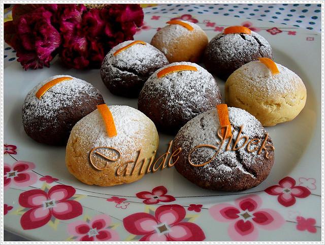Portakal dolgulu kurabiye
