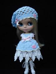 Fondant Fancies - Blue Dress and hat set