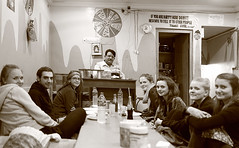 And some more smiles ... (Rajiv Lather) Tags: camera ladies blackandwhite bw india sepia canon restaurant photo photographer cattle image indian smiles fair tourists photograph title pushkar tones caption rajasthan handsomeness beautifulsmile eatingplace