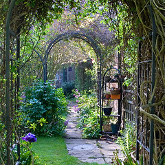 Memories of Summer Days (Keith Gooderham) Tags: summer english garden relax photography nikon arch country d2x restful peaceful keith archway tranquil gooderham greenshoots kg080504001ccwebf
