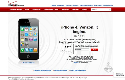 iPhone 4. Verizon. It begins.