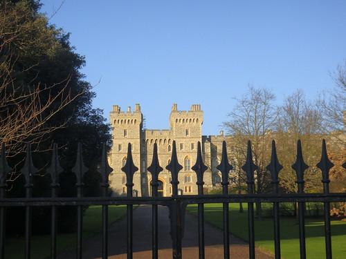 El Castillo de Windsor rodeado de jardines