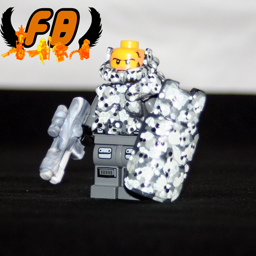 Winter Riot Trooper custom minifig
