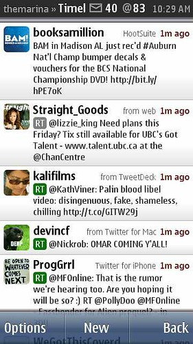 Gravity Twitter Client on Nokia N8