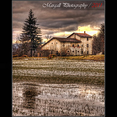 Reflections - HDR - San Pietro del Gallo - Cuneo - Italy (Margall photography) Tags: old italy house tree field del reflections photography dawn gallo san italia alba farm piemonte campo marco cuneo riflessi hdr pietro galletto margall