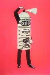 Vintage Krylon Poster (billy craven) Tags: print poster screenprint silkscreen krylon wbez galleryshow serigraph chicagourbanartsociety