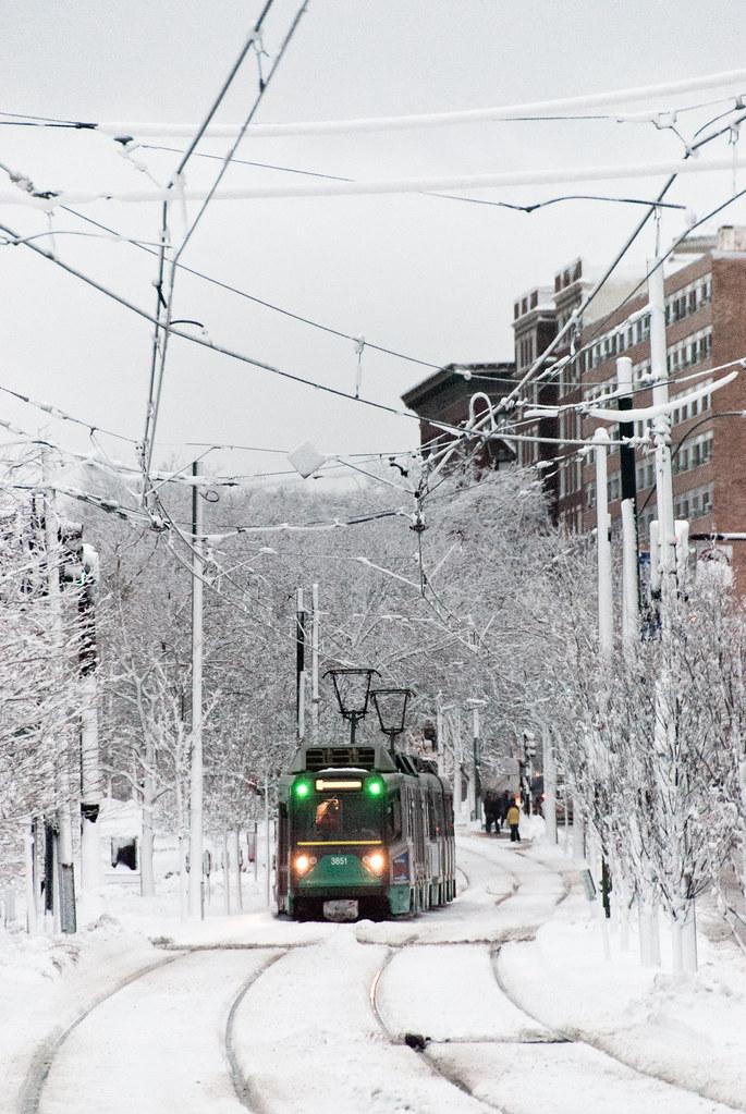 green line in winter