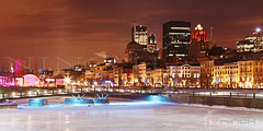 Winter in Montreal (Nino H) Tags: city winter canada cold ice water skyline night buildings eau downtown montral hiver skating qubec nuit froid centreville glace patinoire bonsecours immeubles gettyimagescanada