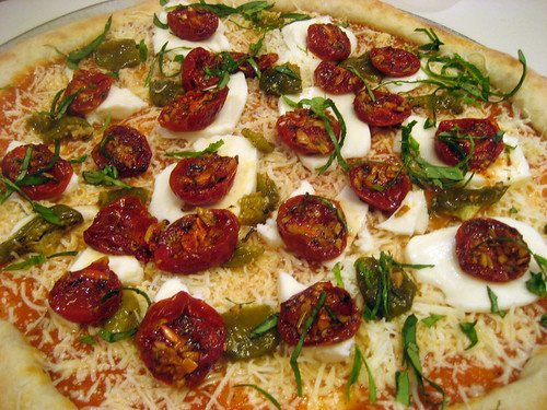 roasted tomato pizza unbaked