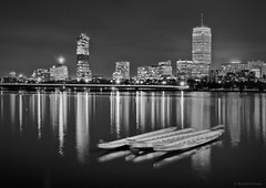 The Three Musketeers (bijoyKetan) Tags: longexposure winter boston night river boats cityscape charles ketan canon1585mmisusm bijoyketan