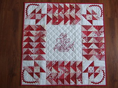 Red and White Quilt Finished 002