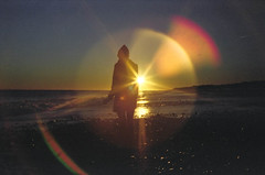 Montauk (scott w. h. young) Tags: ocean winter light sunset sea love film beach 35mm flare montauk thepowerofnow