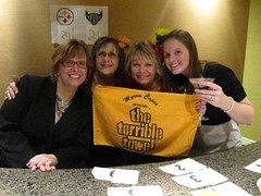 Working hard at ChocolateBall (Star Cat) Tags: work bev chocolate event caitlyn fundraising khs gosteelers luann terribletowel chocolateball keystonehumanservices chocolatefestweekend