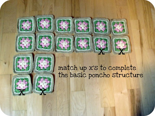 And of course, if you increase the size of the granny squares (extra rows, ...