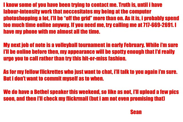 Announcement 1-18-11 by SJH Foto